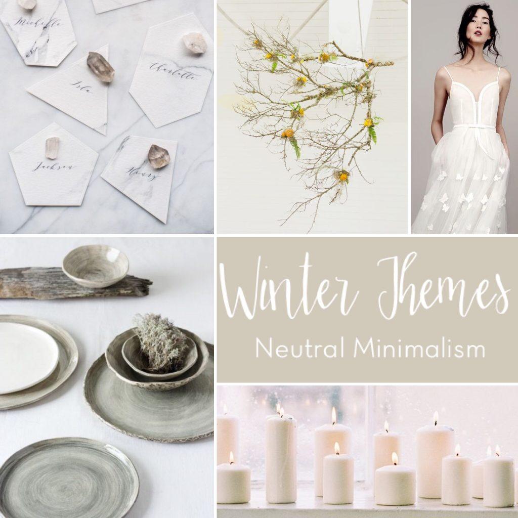 Winter Wedding Theme: Modern Minimalism